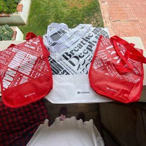 3 Lululemon Reusable Shopping Bags small + large